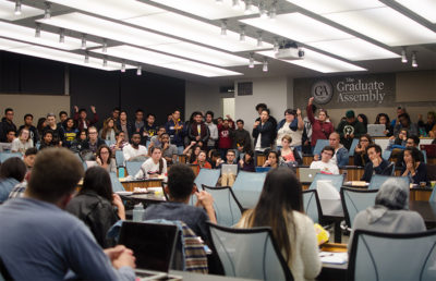 The ASUC Senate convenes at a meeting Wednesday night and unanimously passes a bill to temporarily move two student resource centers to new locations.