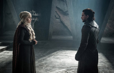 Jon Snow meets Dany on Game of Thrones