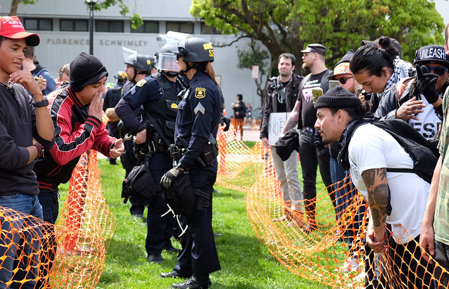 Violence, arrests at Berkeley rally