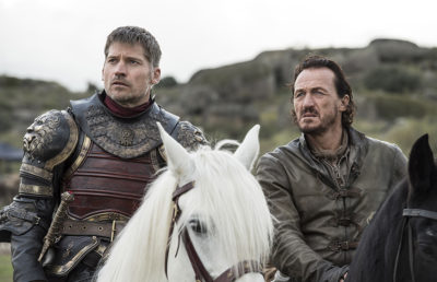 Jaime Lannister and Bronn in Game of Thrones