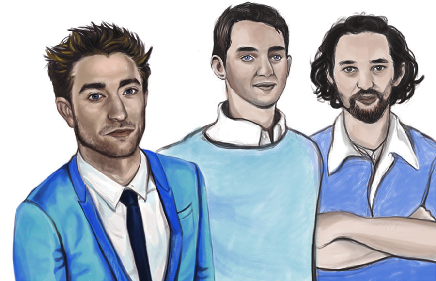 An illustration of Robert Pattinson, Josh Sadfie and Ben Sadfie