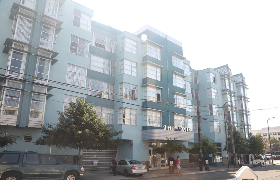 A unit in this building at 2110 Haste St was recently listed as a short-term rental on Airbnb.
