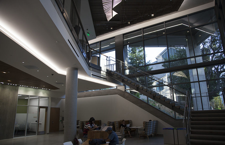 Chou Hall in the UC Berkeley Haas School of Business, which opened in August, aims to be the first zero-waste building on campus by 2018.