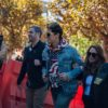 "Controversial conservative writer Milo Yiannopoulos spoke to a crowd of about 50 people on UC Berkeley's Sproul Plaza on Sunday before hurriedly leaving campus on what would have been the first day of the canceled ""Free Speech Week."""