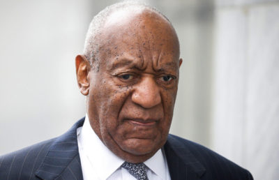 Actor and comedian Bill Cosby arrives for jury selection for his sexual assault trial at the Montgomery County Courthouse in Norristown
