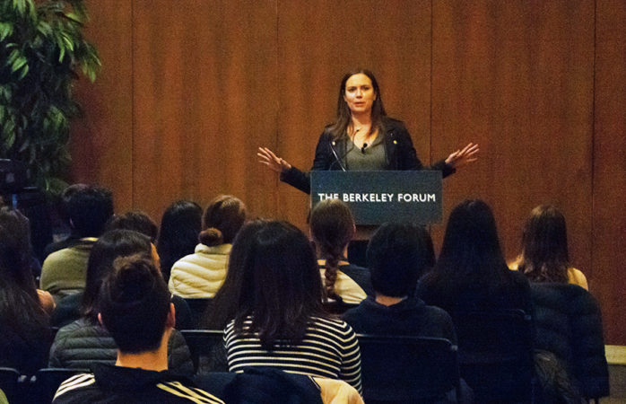 'Competitive as hell': Natalie Coughlin speaks about challenges, perseverance at Berkeley Forum event