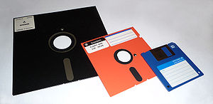 8-inch, 5,25-inch, and 3,5-inch floppy disks - Image via Wikipedia