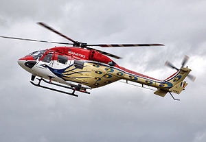 HAL Dhruv performing aerobatics during the Roy...