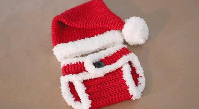 Free Pattern Isn39t This Crochet Santa Hat And Diaper