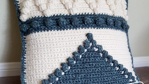 This Crochet Bobble Pillow Pattern Will Remind You Of Your