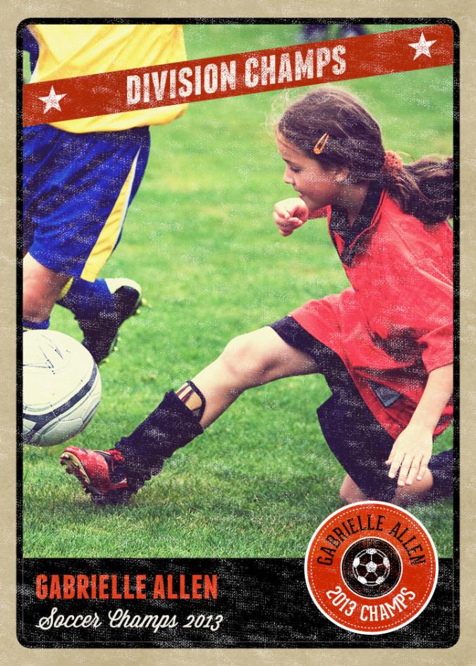 Photography Photo Card Template Retro Sports Baseball Card Inspired