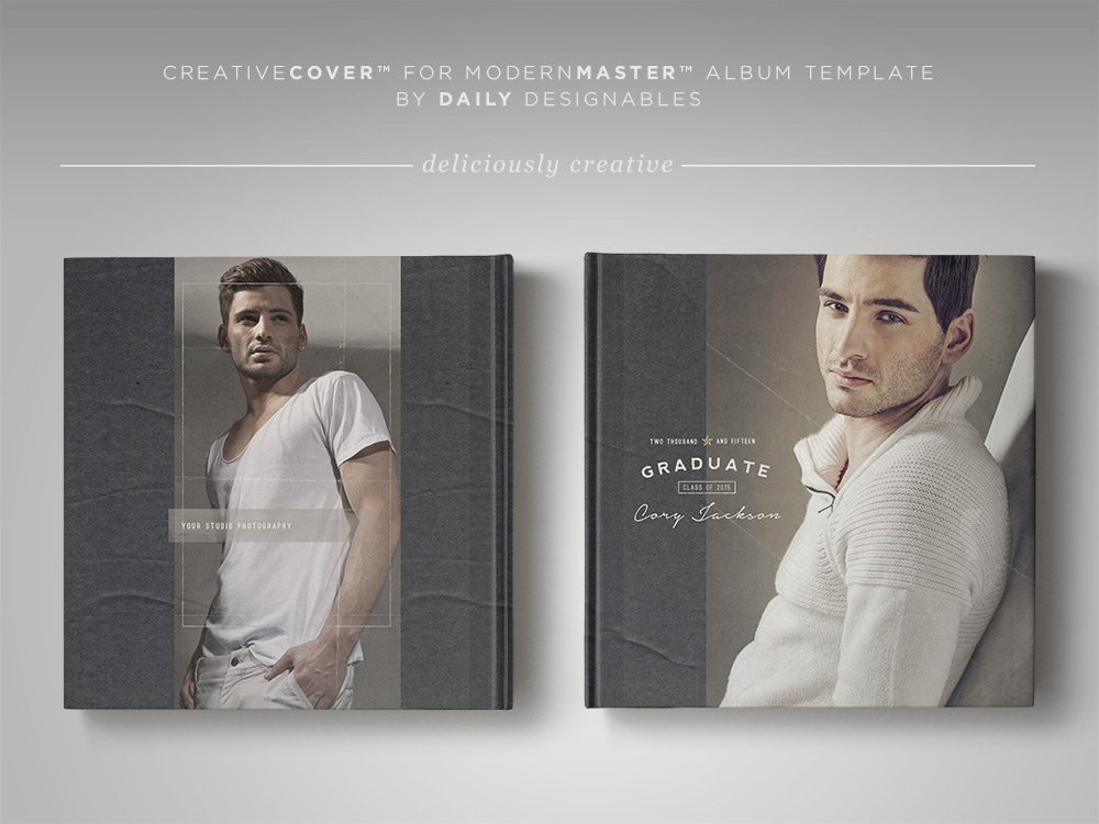 Senior Photography Album Cover Template Masculine