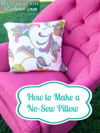 How to Make a No Sew Pillow (and a Giveaway) - Daily Dose ...