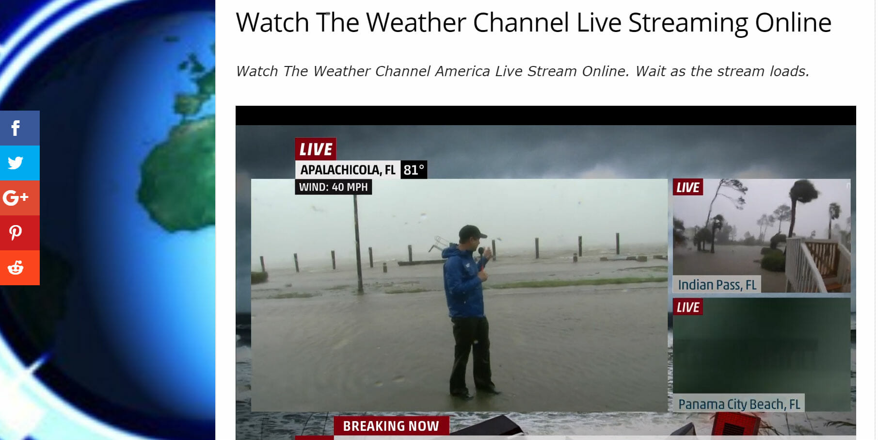 weather channel live broadcast