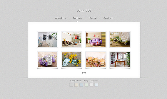 Free Gallery Vcard Html Templates Free Psdvectoricons