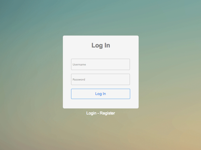 Free Login /Register Form HTML5 CSS3 Template Free PSD,Vector,Icons