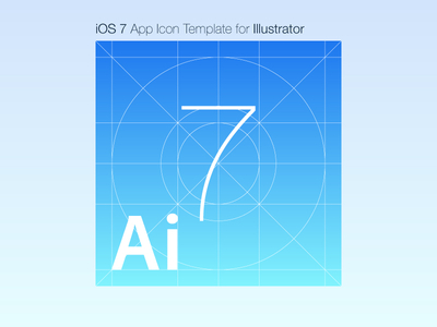 iOS 7 App Icon Template for Illustrator Free PSD,Vector,Icons - iphone app icon template
