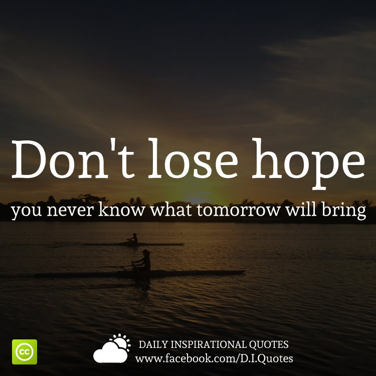 Inspirational Dont Lose Hope Quote