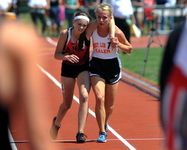 When Meghan Vogel carried Arden McMath, a competitor, across the finish line when she collapsed during a race