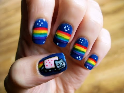 Colorful Rainbow At Your Finger Tips Nail Art