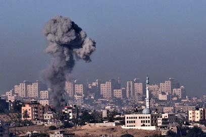 Air strike in Gaza. (AFP PHOTO)