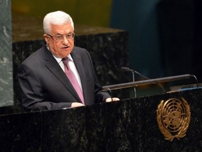 Mohamed Abbas at the United nations. AFP