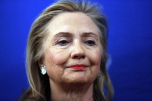 Clinton remained in hospital December 31, 2012 after news her health had taken a turn for the worse with the discovery of a blood clot just weeks before she is due to step down.  (POOL/AFP, Kevin Lamarque)