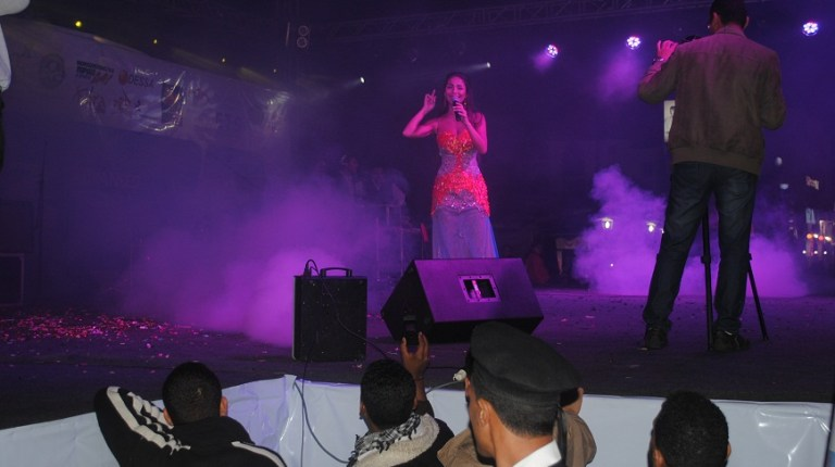 Dolly Chahine during concert in Hurghada 22 January 2013 Abdel-Rahman Sherief