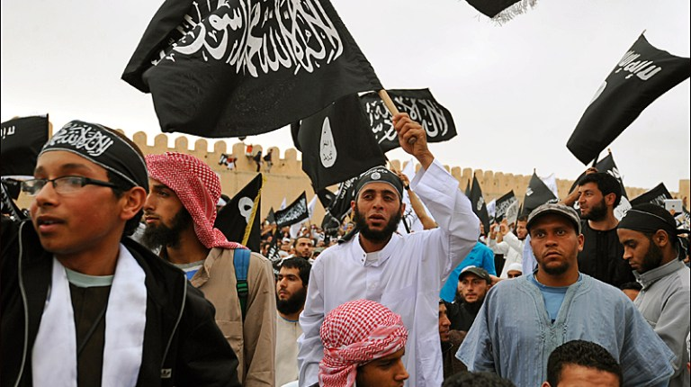 The Muslim extremists in Tunisia are believed to number between 3,000 and 10,000 (Photo by AFP/Fethi Belaid)
