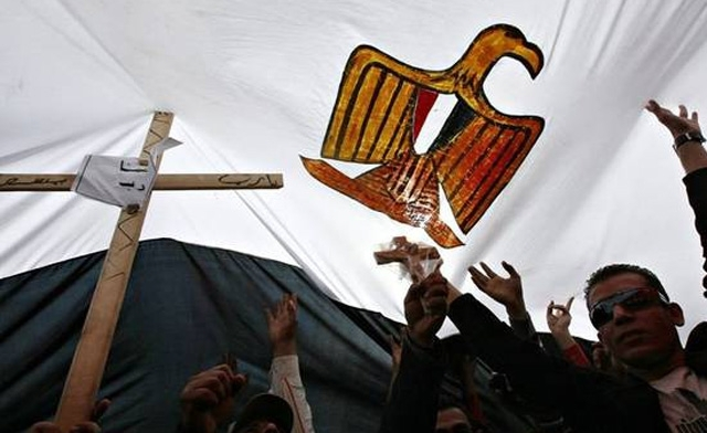 The detainees are suspected of trying to convert Muslims after being found with Bibles, images of Christ, and the late Pope Shenuda of Egypt's Coptic Christians. (AFP Photo)