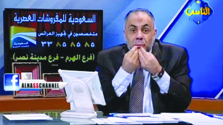 Islamist TV presenter Khaled Abdullah has been sentenced to a suspended sentence of three years in prison and subject to a fine of EGP 10,000. (Photo By: Al Nas )