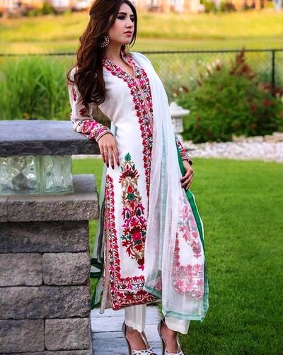 This is a traditional Pakistani dress