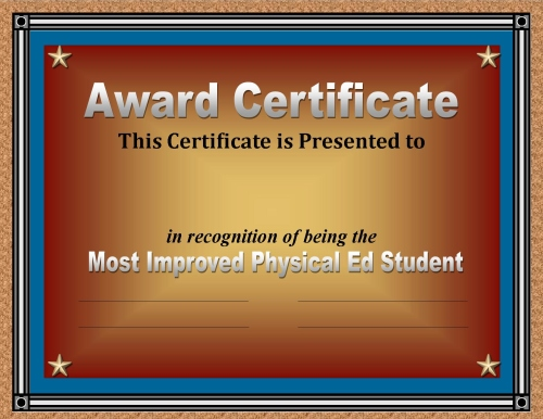 Certificate of Achievement 50 Awards Recognizing Student Excellence