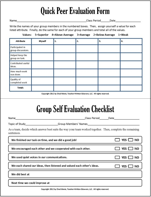 Research paper evaluation form