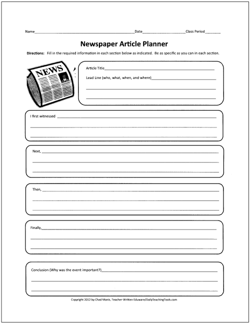 Best 25+ Newspaper report ideas on Pinterest Current news - printable book report forms
