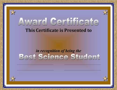 Certificate of Achievement 50 Awards Recognizing Student Excellence - example of award certificate
