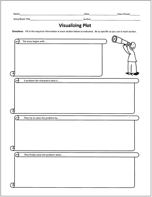 Free Graphic Organizers for Teaching Literature and Reading - printable book review template