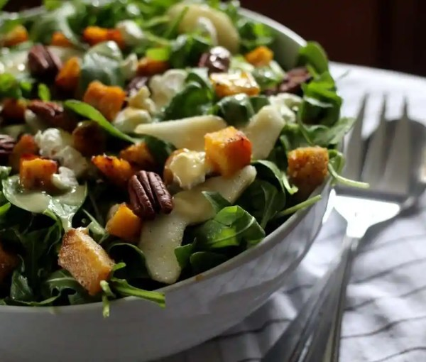 Late Autumn Salad With Brown Butter Vinaigrette