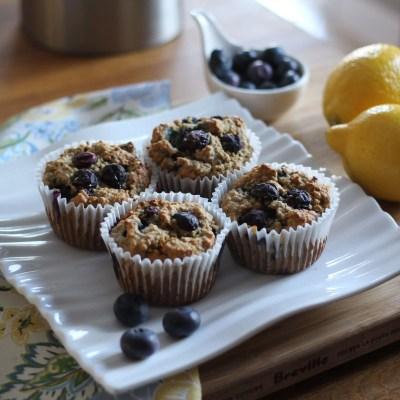 Blueberry, Ricotta & Lemon Blender Muffins #22daysofhealthy www.dailytiramisu.com
