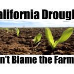 California Drought: don't blame the Farmer