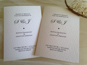 Wedding Order Of Service Books Wedding Programs From 1