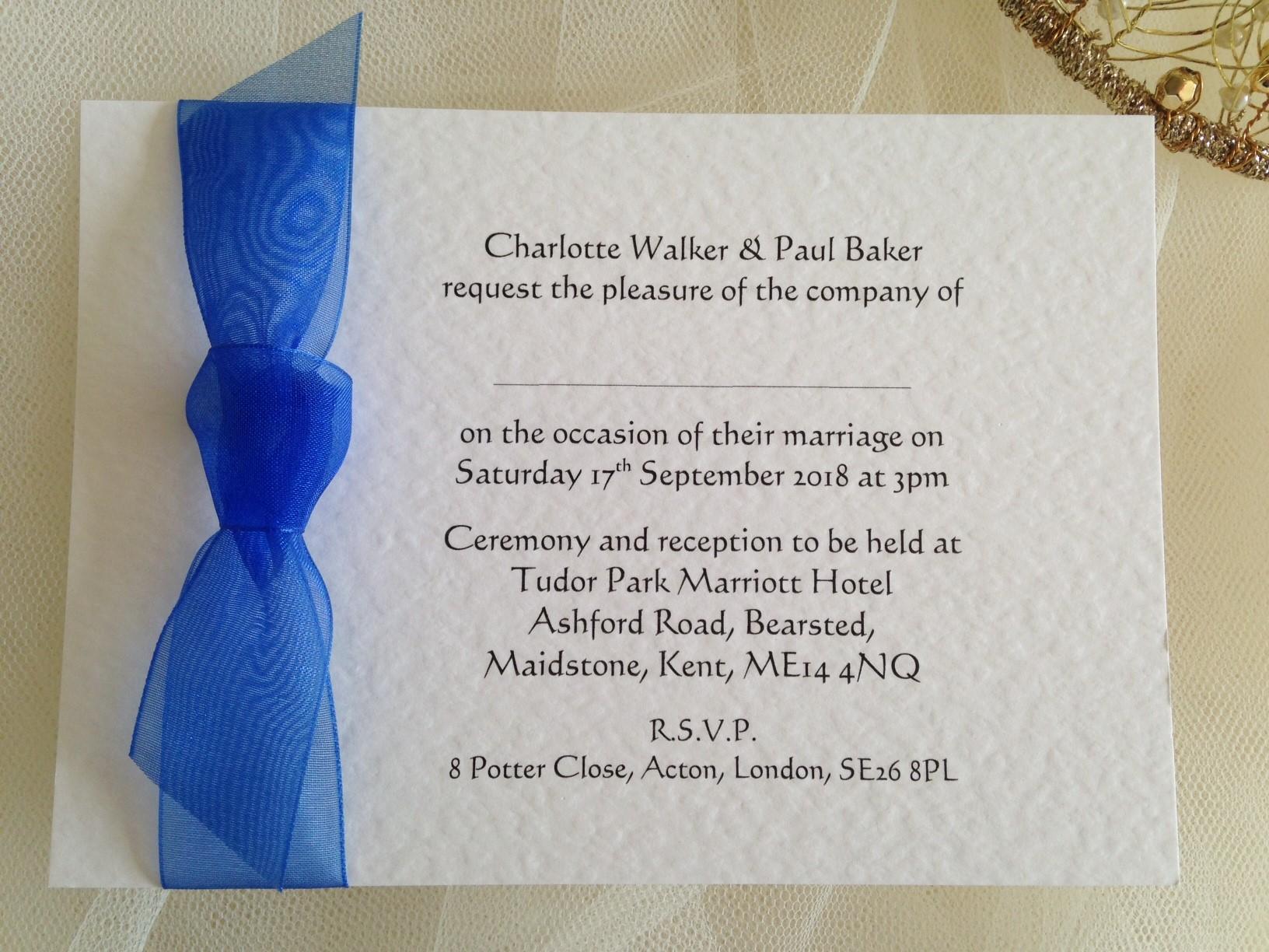 Royal Blue Wedding Invitations Cheap - Ivoiregion