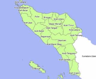 Ilustrasi - Peta Provinsi Aceh (inet)