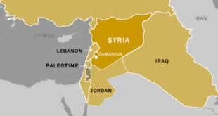 Ilustrasi - Peta Suriah (inet)