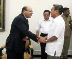 Wakil Presiden Boediono menerima kunjungan Duta Besar Mesir untuk Indonesia (wapresri.go.id)