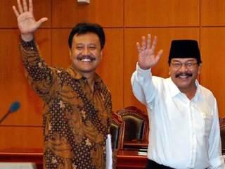 Pasangan Soekarwo-Saifullah Yusuf. (VIVAnews/Tri Saputro)