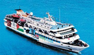 Kapal Mavi Marmara sedang membawa bantuan kemanusiaan ke Gaza, Palestina (inet)