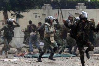 Aksi Brutal Polisi Mesir (inet)
