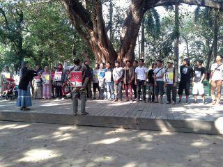 Suasana peringatan Sumpah Pemuda di Tainan Park, Tainan, Taiwan