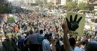 Demonstrasi menolak pengadilan balas dendam, Jumat (15/11/2015) kemarin.